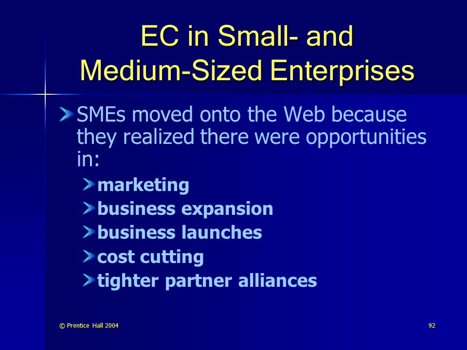 EC in Small- and Medium-Sized Enterprises