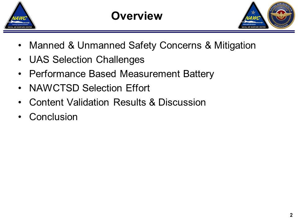 Overview Manned & Unmanned Safety Concerns & Mitigation