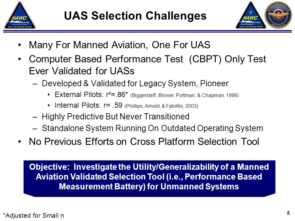 UAS Selection Challenges