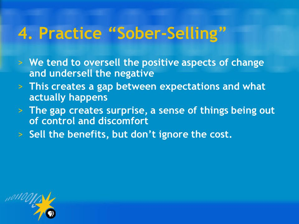 4. Practice Sober-Selling