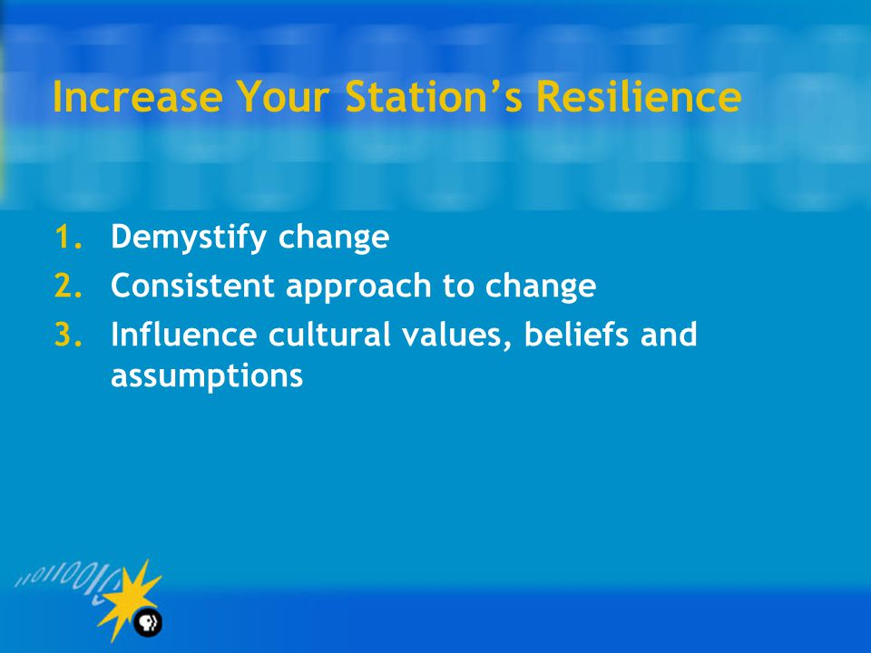 Increase Your Station's Resilience