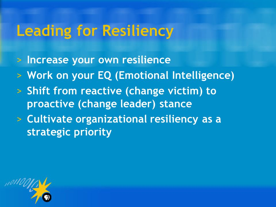 Leading for Resiliency