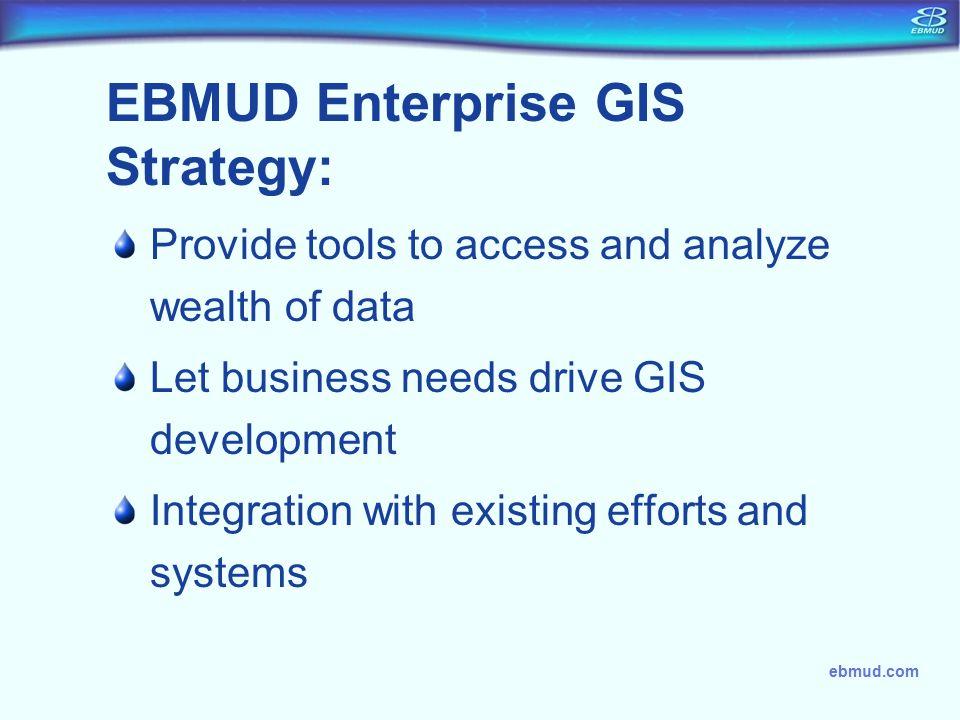 EBMUD Enterprise GIS Strategy:
