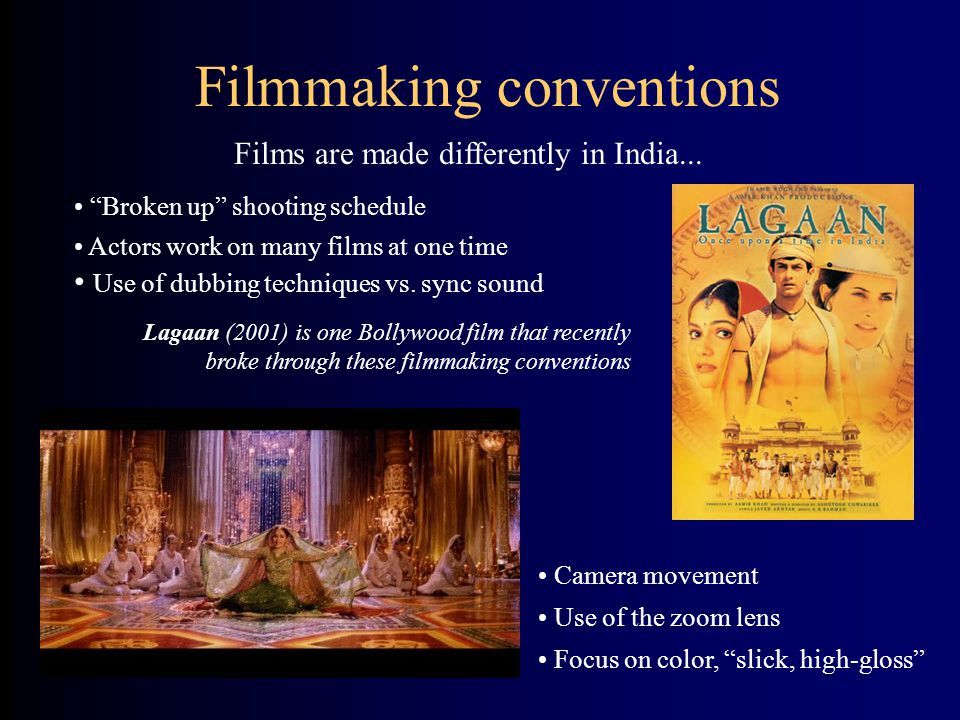 Filmmaking conventions
