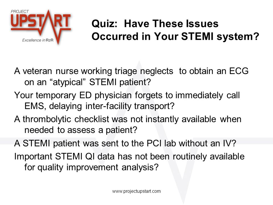 Quiz: Have These Issues Occurred in Your STEMI system