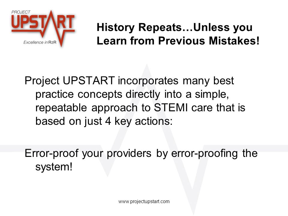 History Repeats…Unless you Learn from Previous Mistakes!