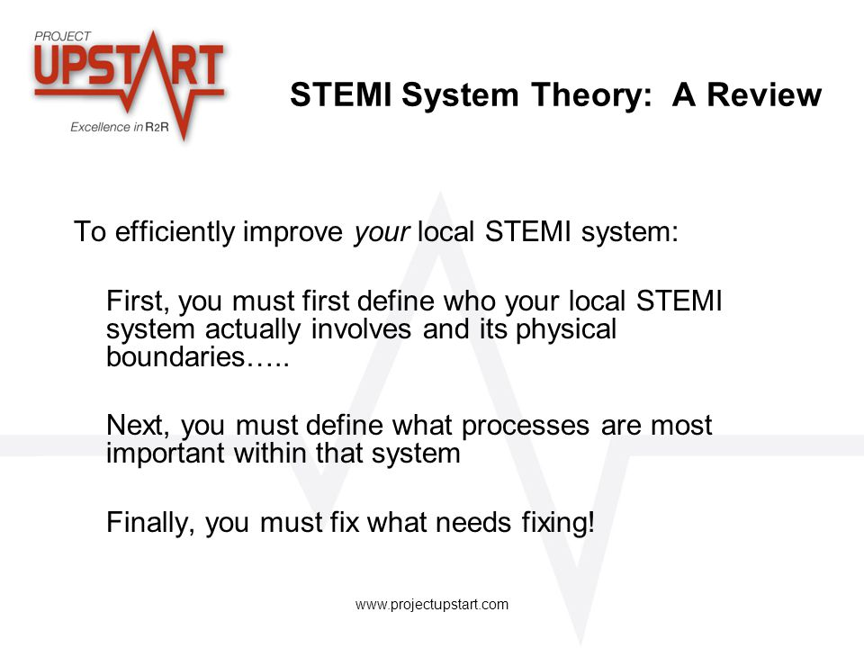 STEMI System Theory: A Review