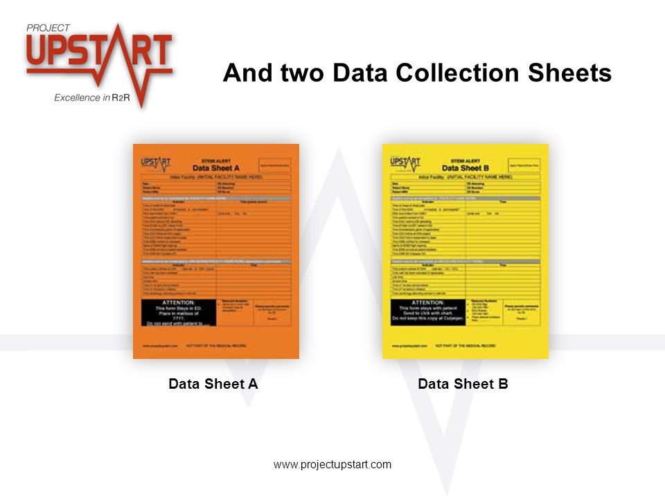 And two Data Collection Sheets