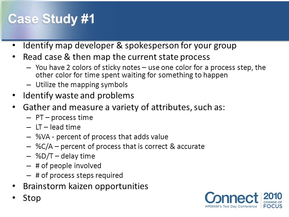 Case Study #1 Identify map developer & spokesperson for your group