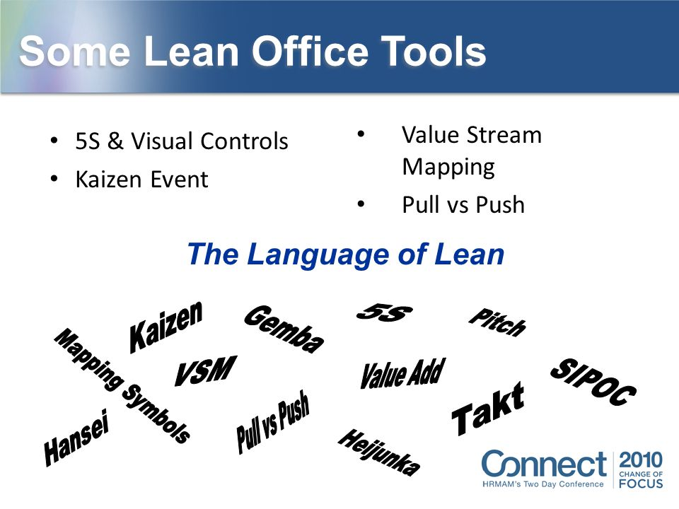 Some Lean Office Tools The Language of Lean Value Stream Mapping