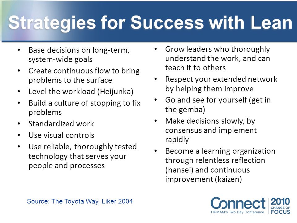 Strategies for Success with Lean