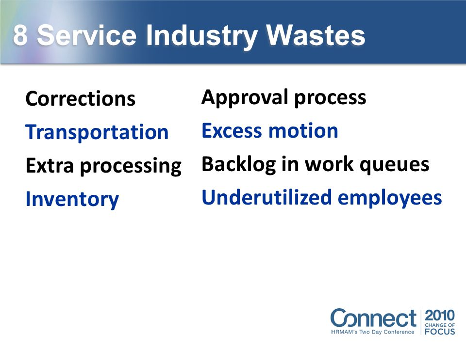 8 Service Industry Wastes