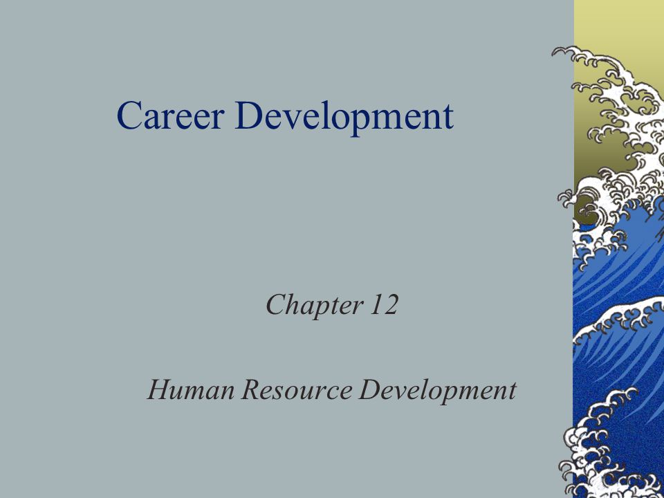 Chapter 12 Human Resource Development