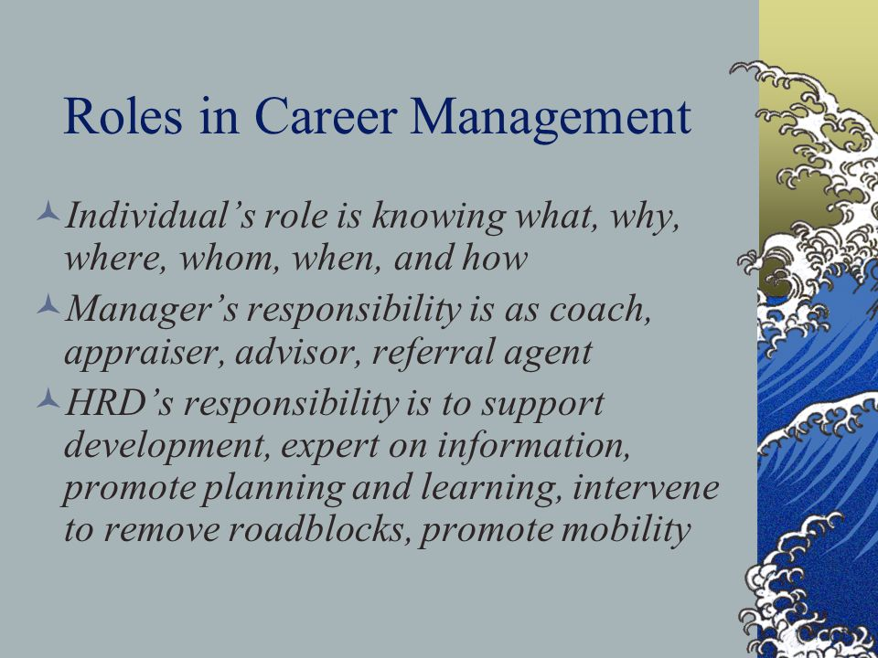 Roles in Career Management