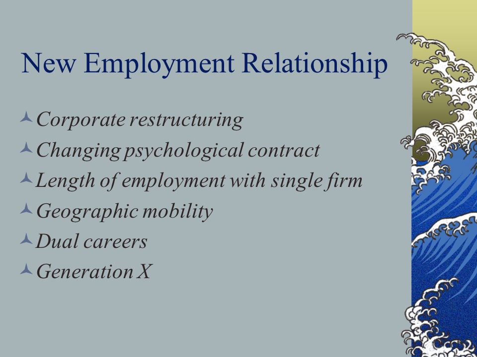 New Employment Relationship