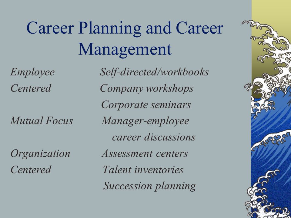 Career Planning and Career Management