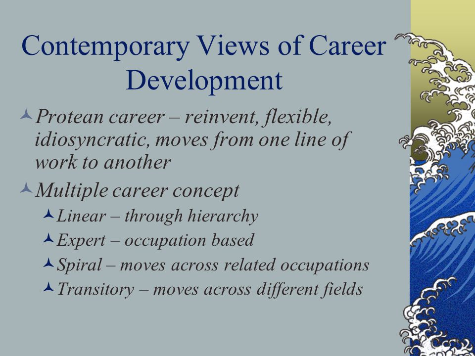 Contemporary Views of Career Development