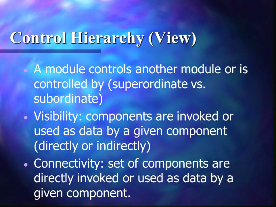Control Hierarchy (View)