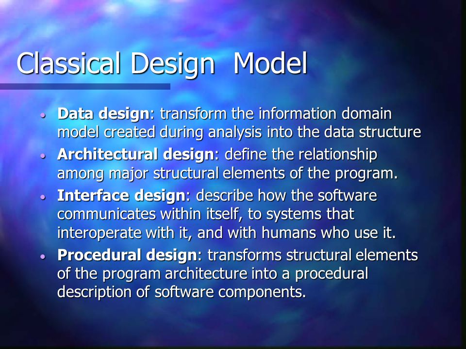 Classical Design Model