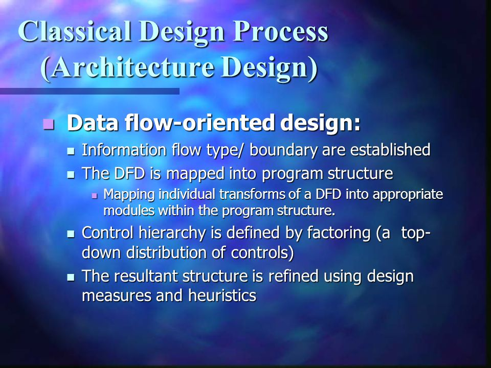 Classical Design Process (Architecture Design)