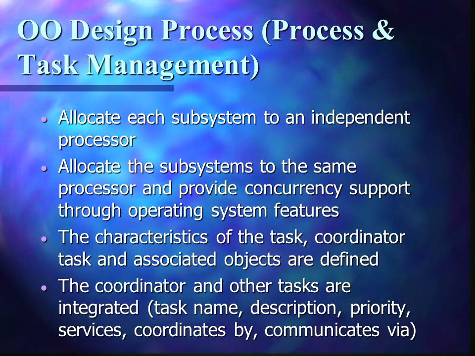 OO Design Process (Process & Task Management)