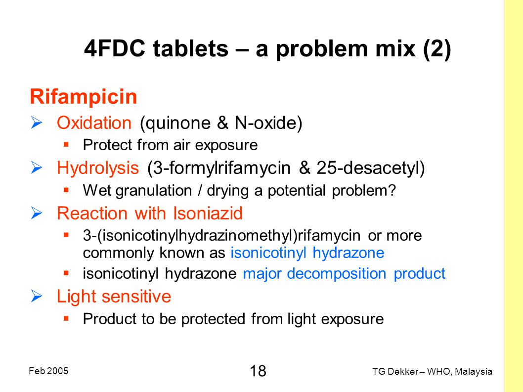 4FDC tablets – a problem mix (2)