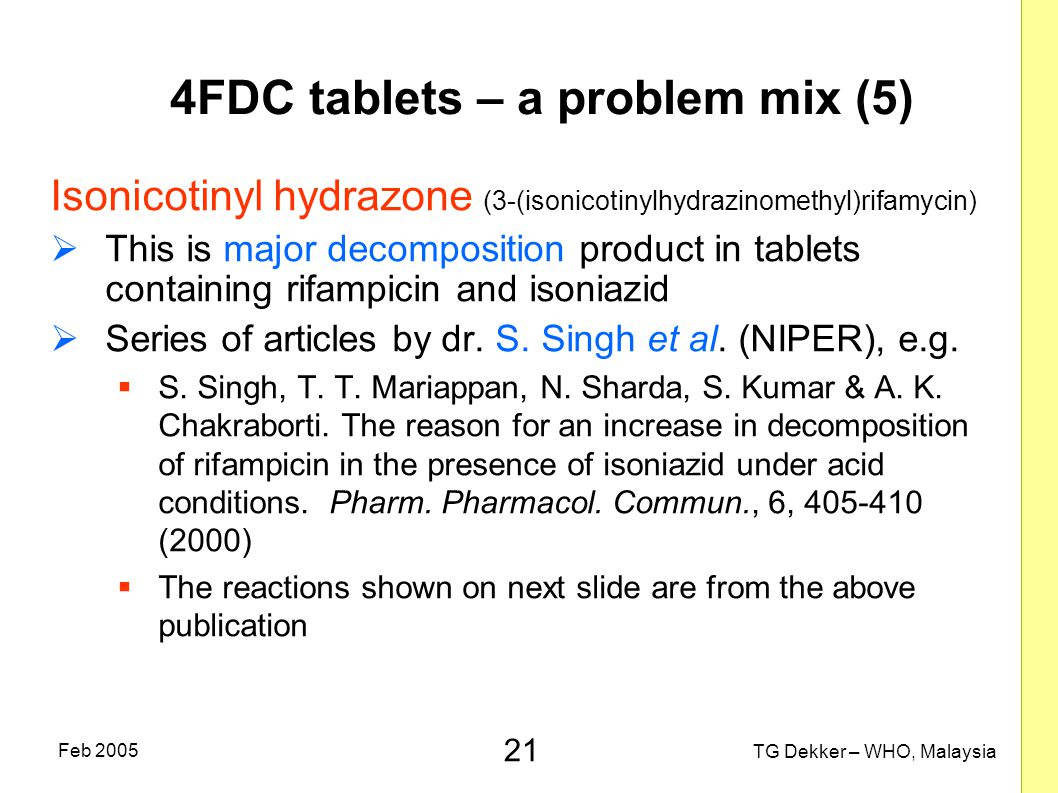 4FDC tablets – a problem mix (5)