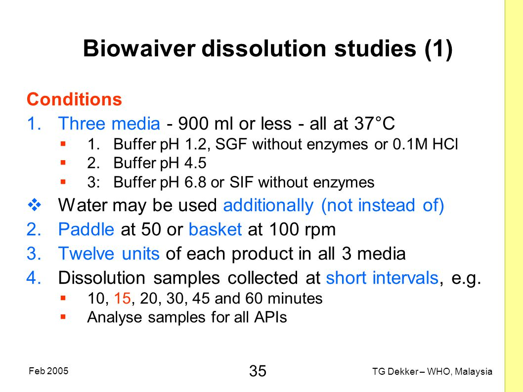Biowaiver dissolution studies (1)