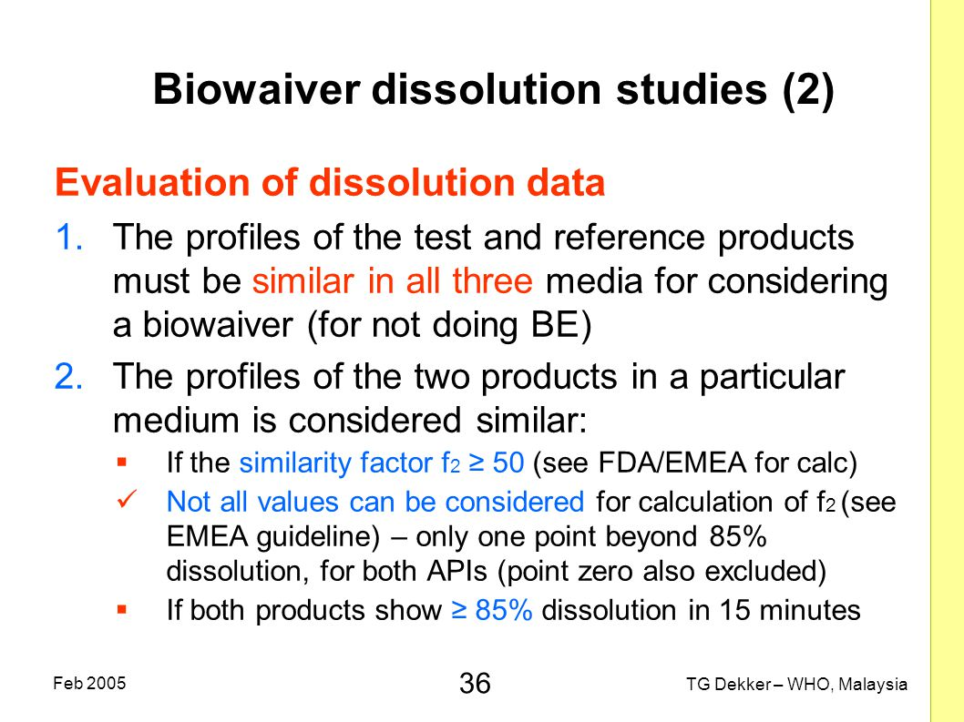 Biowaiver dissolution studies (2)