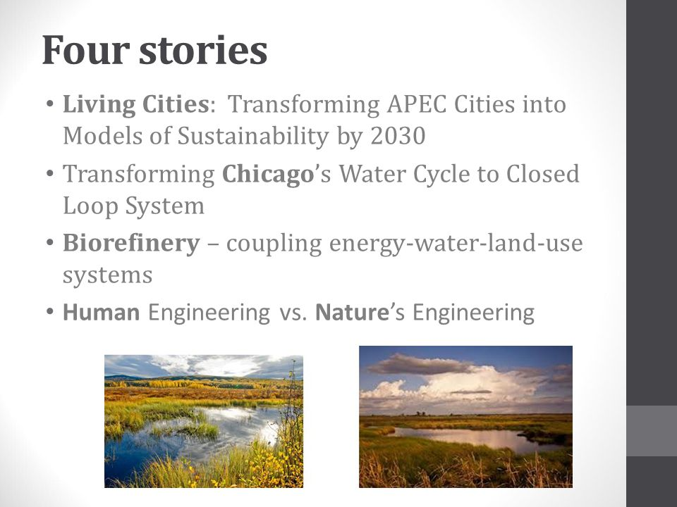 Four stories Living Cities: Transforming APEC Cities into Models of Sustainability by 2030.