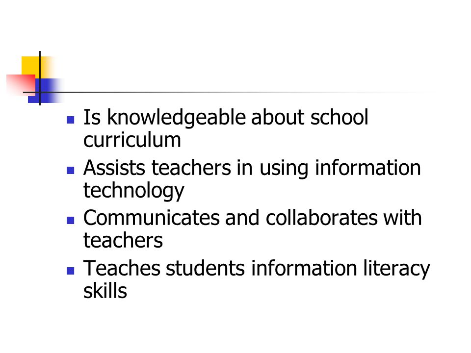 Is knowledgeable about school curriculum