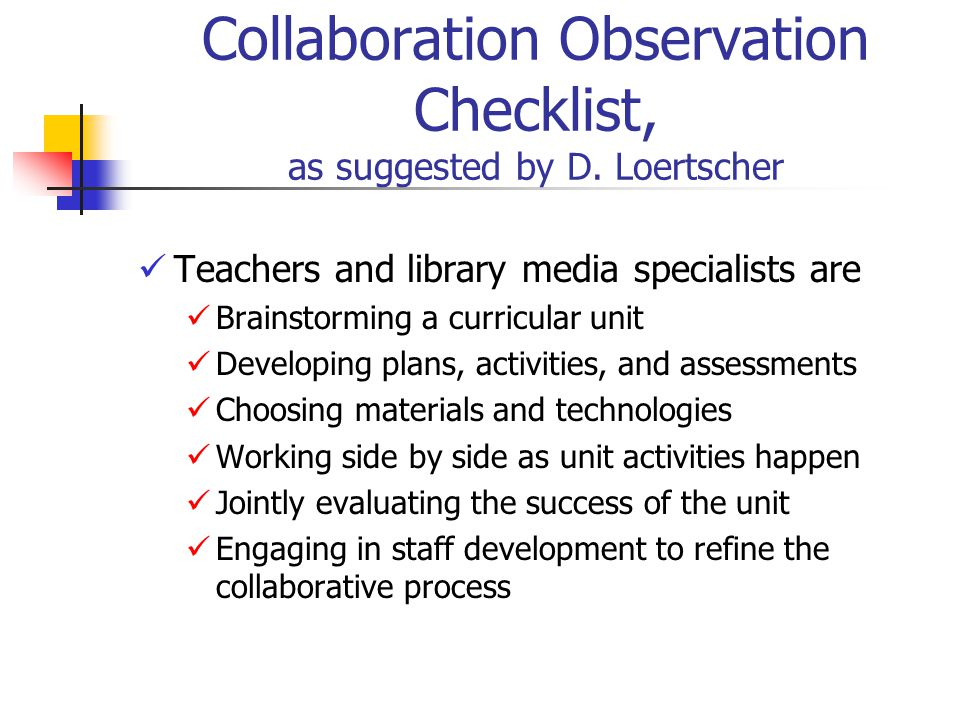 Collaborative Teaching Checklist ~ Leverage your library program collaborate ppt video