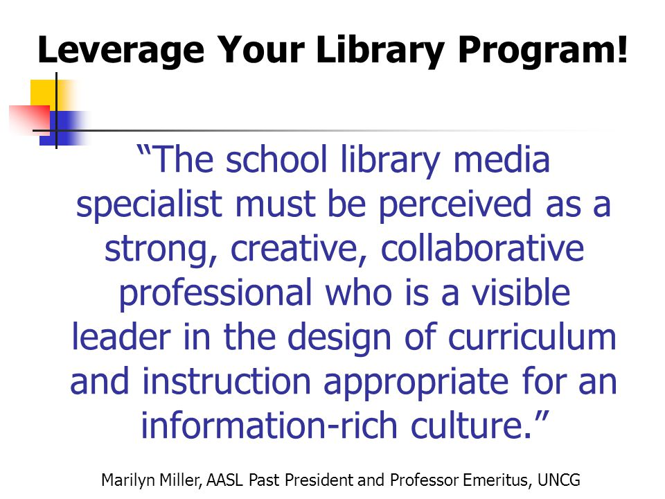 Leverage Your Library Program!