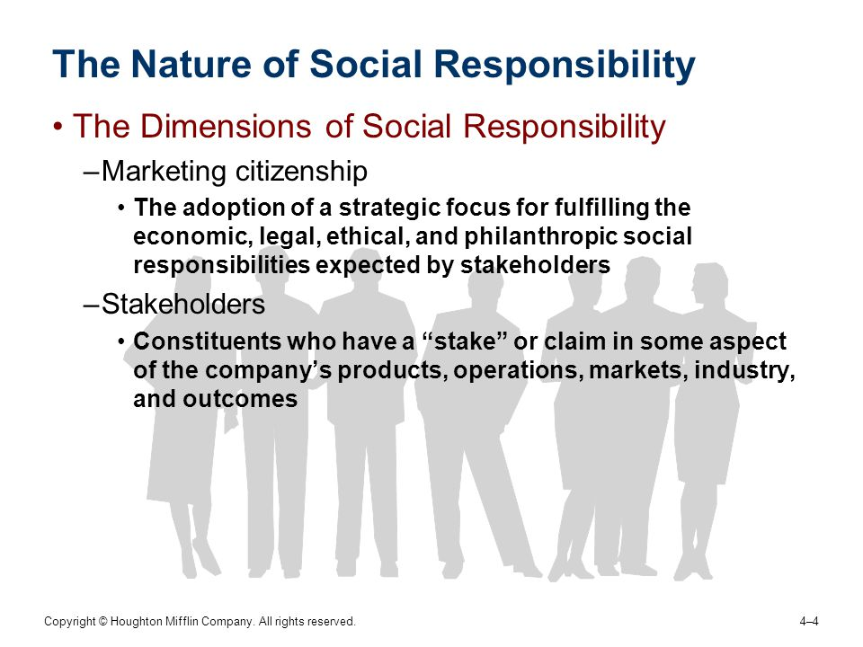 The Nature of Social Responsibility