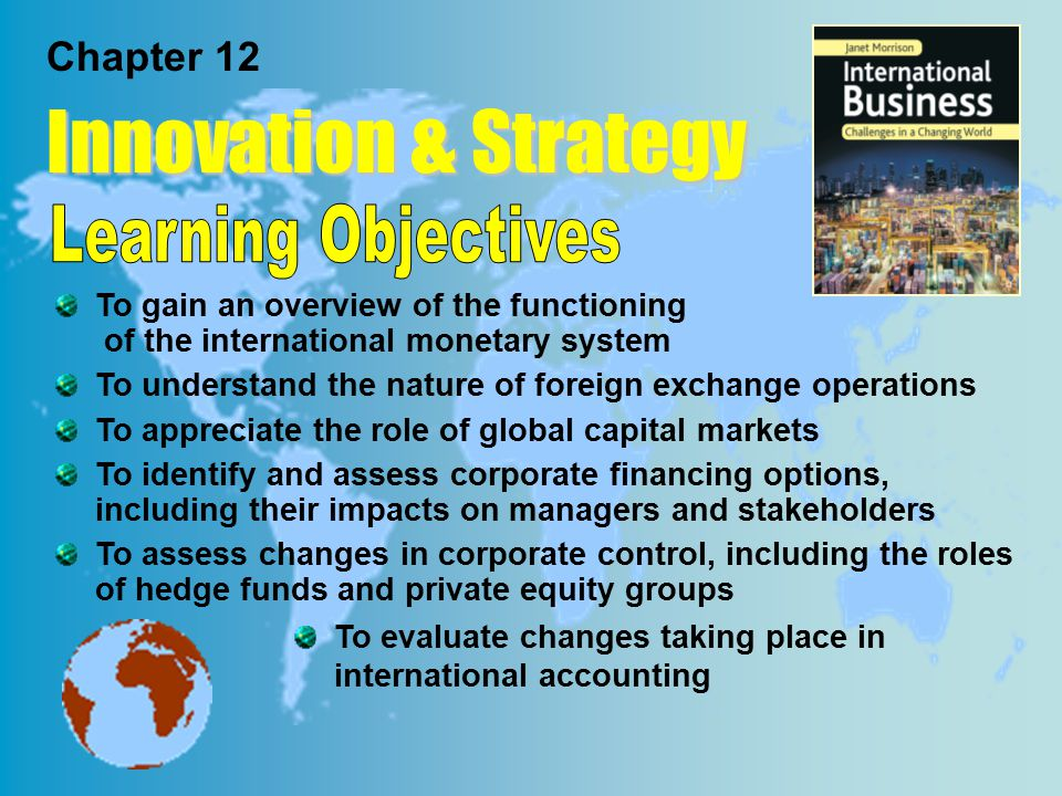 Innovation & Strategy Learning Objectives Chapter 12