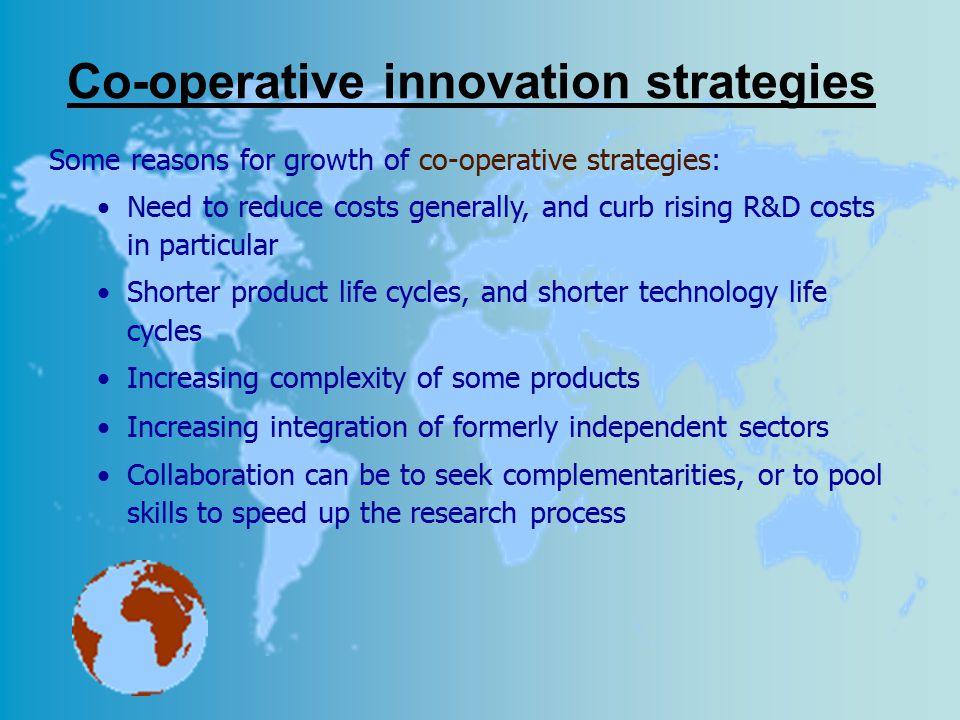 Co-operative innovation strategies