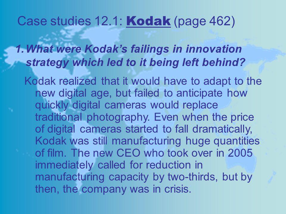 Case studies 12.1: Kodak (page 462)