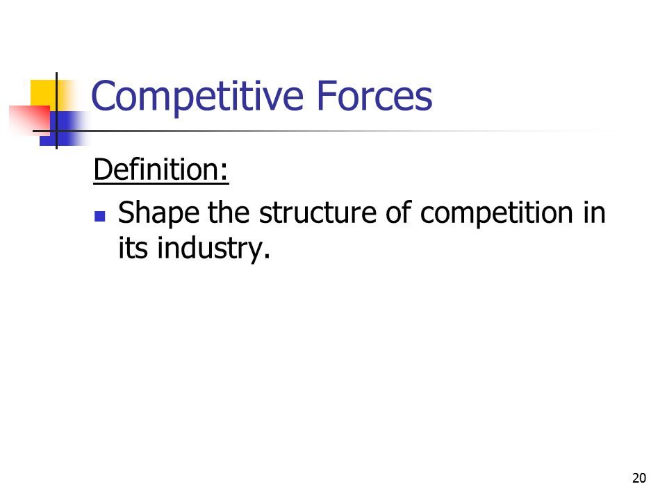Competitive Forces Definition: