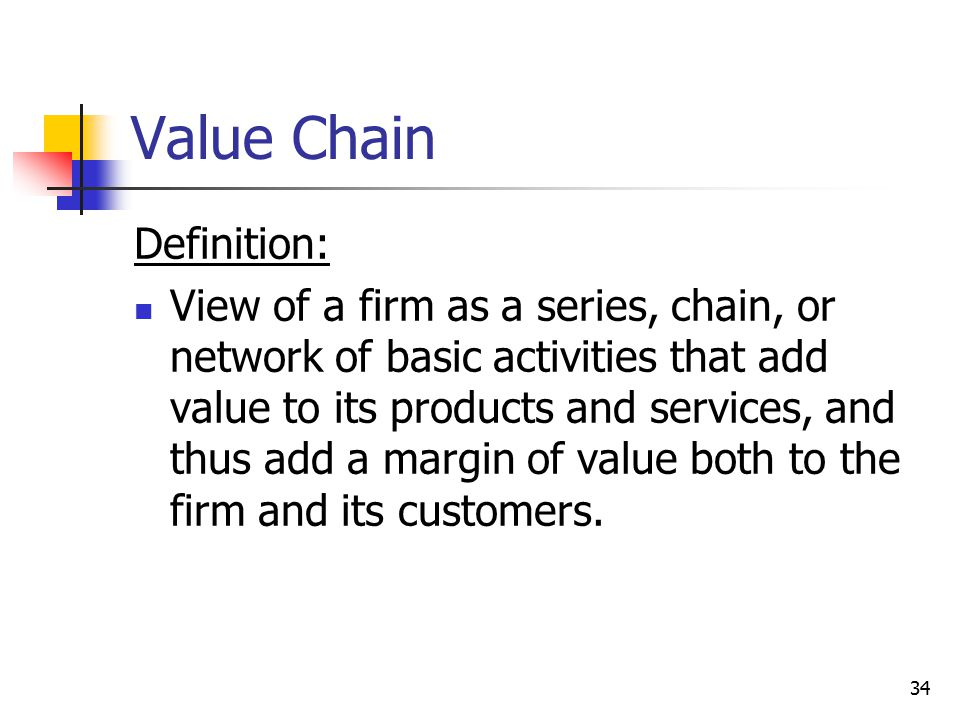 Value Chain Definition: