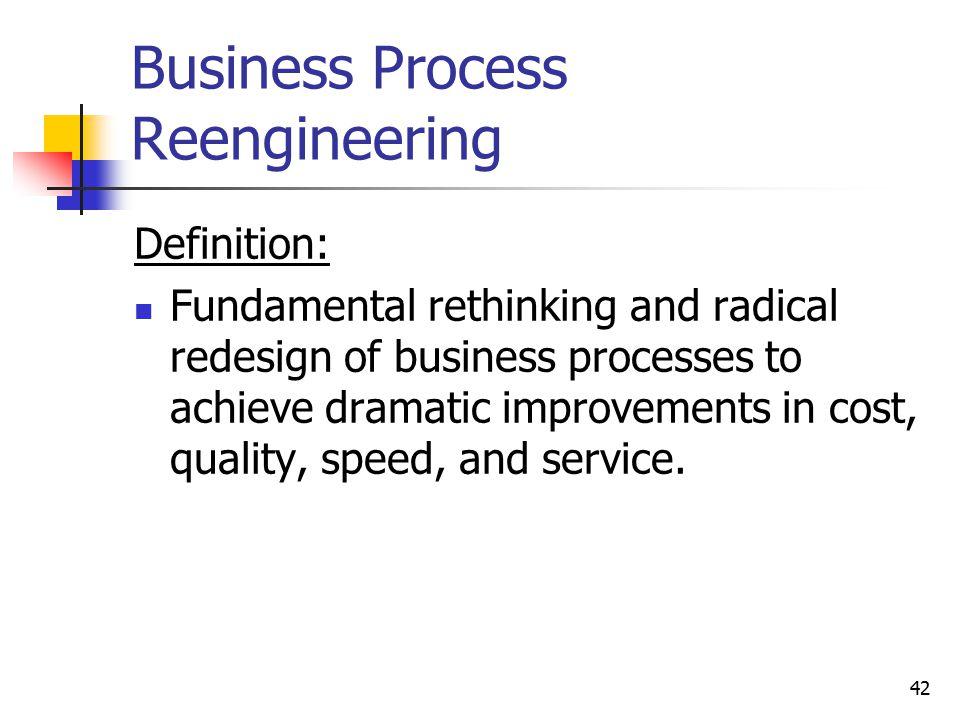 Business Process Reengineering
