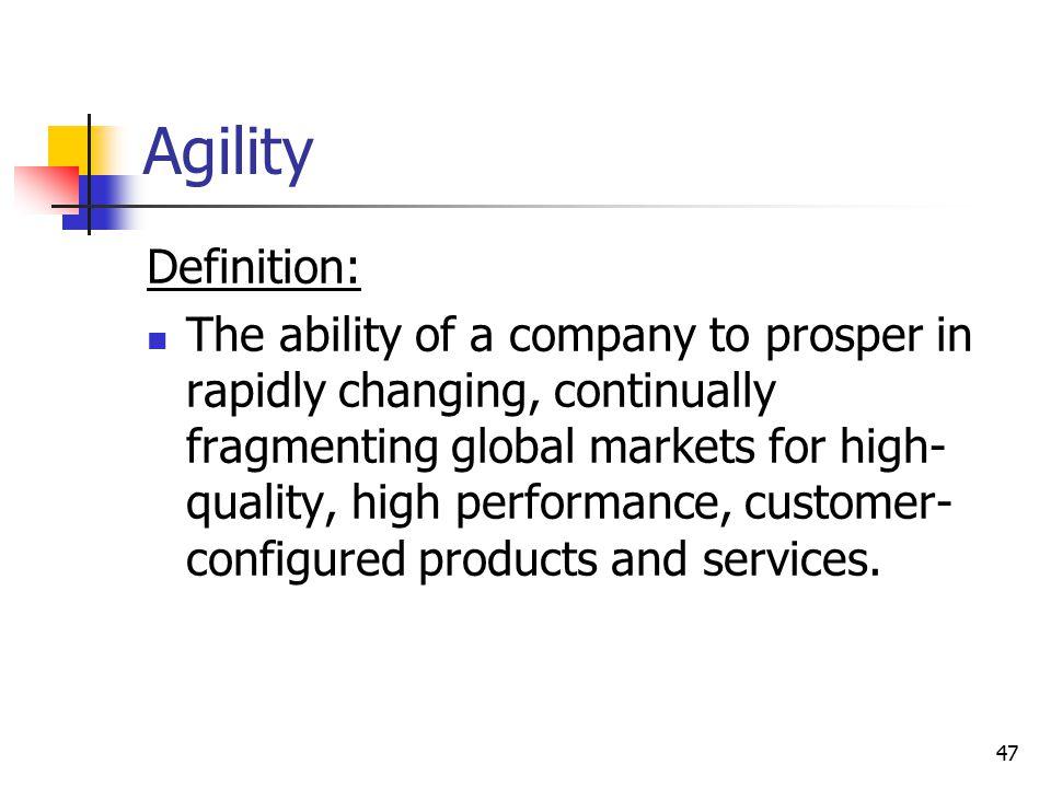 Agility Definition: