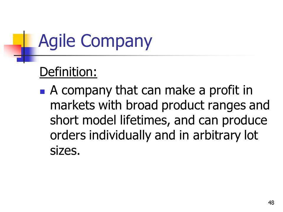Agile Company Definition: