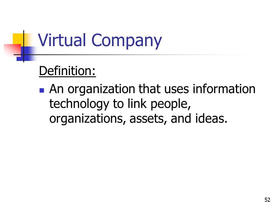 Virtual Company Definition: