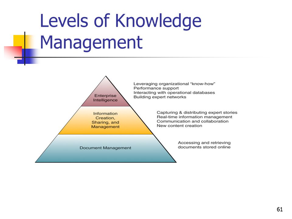 Levels of Knowledge Management