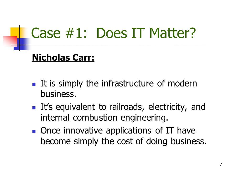 Case #1: Does IT Matter Nicholas Carr: