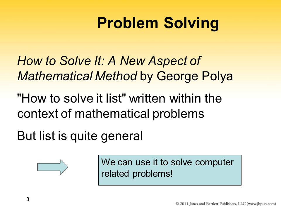 Problem Solving How to Solve It: A New Aspect of Mathematical Method by George Polya.