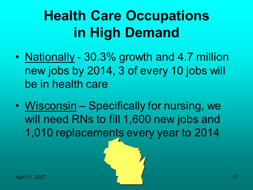 Health Care Occupations in High Demand