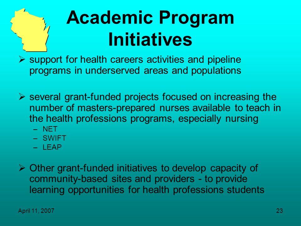 Academic Program Initiatives