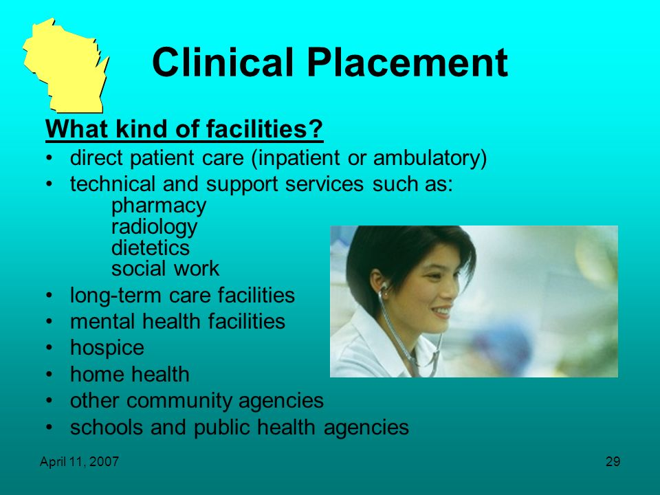 Clinical Placement What kind of facilities