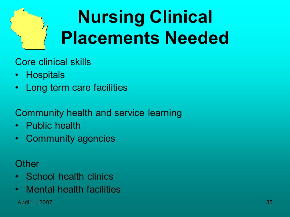 Nursing Clinical Placements Needed